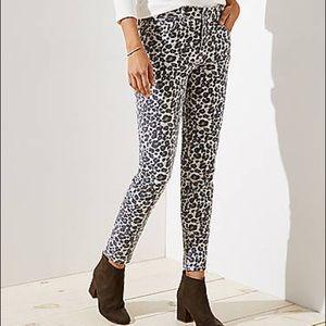 Ann Taylor LOFT Modern Skinny Jeans Leopard Print